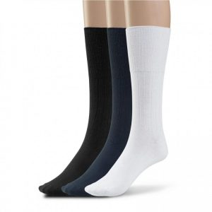 Diabetic cotton dress socks