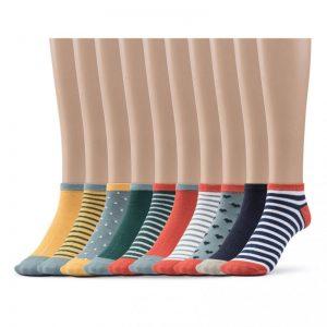 colorful low cut socks