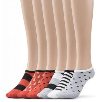 Women's designed no show socks