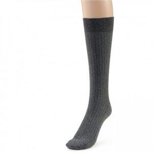 Grey cotton crew sock