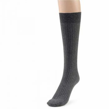 Grey cotton crew sock