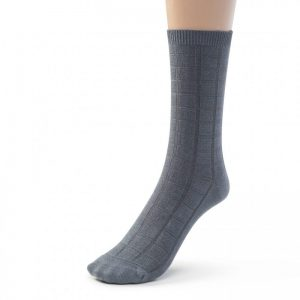 textured crew sock