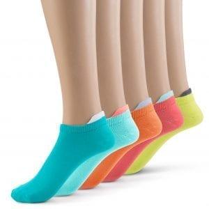 Various colors ankle socks + tab