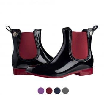 elastic rain boots wellies