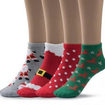 Low cut Christmas socks