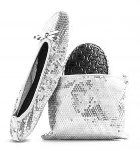 Foldable flat most comfortable bridal shoe